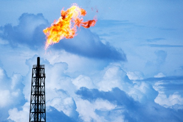 Flare at a Natural Gas plant